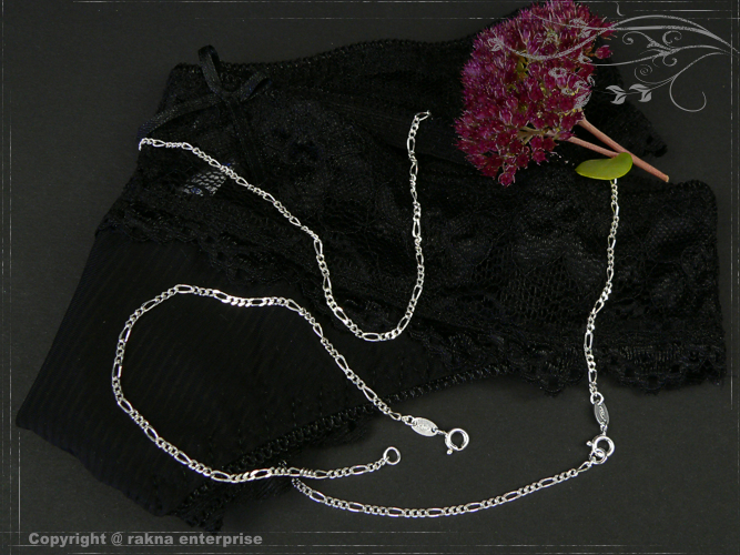 Curb chains 925 Sterling Silver width 2,2mm  solid