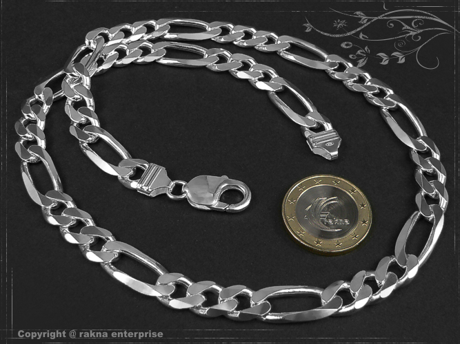 Curb chains 925 Sterling Silver width 9,0mm  solid